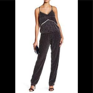 V-Neck Sleeveless Embellished Tina Jumpsuit